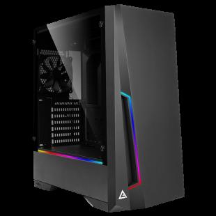 Antec DP501 Dark Phantom Gaming Case with Window, ATX, No PSU, Tempered Glass, ARGB Strips & Built-in Controller