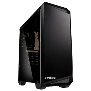 Antec NX100 ATX Gaming Case with Window, No PSU, 12cm Rear Fan, Black/Grey Highlights