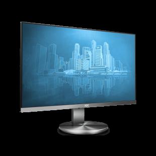 Brand New AOC I2490VXQ/BT 23.8-inch Widescreen IPS LED Gunmetal Multimedia Monitor-Black (1920x1080/4ms/VGA/HDMI/DP)