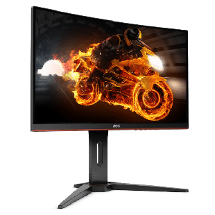 Brand New AOC C32G1 32-inch Widescreen VA LED Curved Monitor Black/Red (1920x1080/1ms/VGA/2xHDMI/DP)