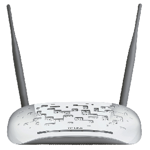 TP-Link (TL-WA801ND) 2.4GHz 300Mbps Wireless N Access Point, 2 Detachable Antennas - White