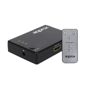 Approx 3 Port HDMI Switch, Remote Control