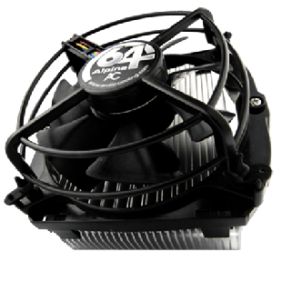 Arctic Alpine 64 GT Heatsink & Fan, AMD Sockets, Fluid Dynamic Bearing - Black