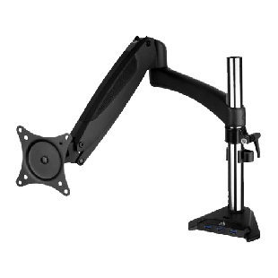 "Arctic Z1-3D Gen 3 Single Monitor Arm with 3-Port USB 3.2 Gen 1 Hub, 3D Monitor Placement, up to 38"" Monitors"