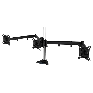 "Arctic Z3 Pro (Gen3) Triple Monitor Arm with 4-Port USB 3.0 Hub, Up to 32"" Monitors / 29"" Ultrawide"