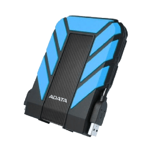 "ADATA 2TB HD710 Pro Rugged External Hard Drive, 2.5"", USB 3.1, IP68 Water/Dust Proof, Shock Proof, Blue"