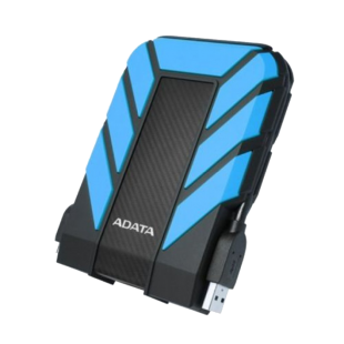 "ADATA 1TB HD710 Pro Rugged External Hard Drive, 2.5"", USB 3.1, IP68 Water/Dust Proof, Shock Proof, Blue"