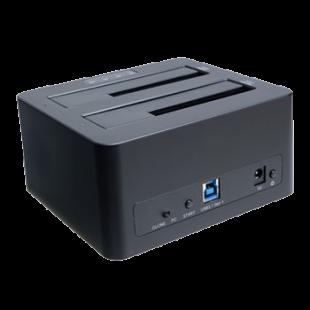 "Akasa (DuoDock X3) Dual Bay USB 3.1 Gen1 Clone Docking Station, 2.5""/3.5"" SATA"