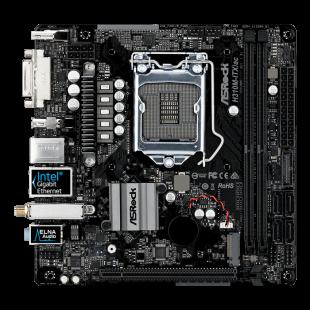 Asrock H310M-ITX/AC, Intel H310, 1151, Mini ITX, DDR4, DVI, HDMI, DP, Wi-Fi, M.2