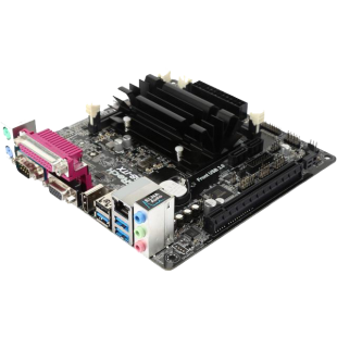 Asrock J3455B-ITX, Integrated Intel Quad-Core J3455, Mini ITX, DDR3 SODIMM, VGA, HDMI, Serial Port
