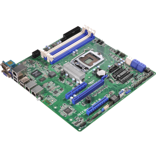 Asrock Rack E3C222D4U Server Board, Intel C222, 1150, Micro ATX, Dual GB LAN, IPMI LAN, Serial Port