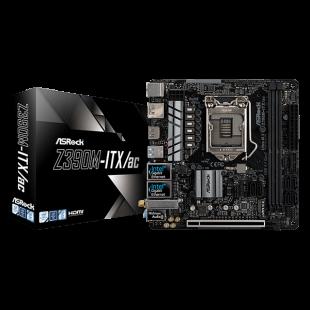 Asrock Z390M-ITX/AC, Intel Z390, 1151, Mini ITX, 2 DDR4, 2 HDMI, DP, Dual LAN, Wi-Fi