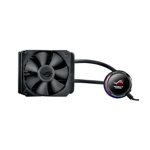Asus ROG Ryuo 120mm Liquid CPU Cooler, 1 x 12cm PWM Fan, Full Colour OLED Display, RGB