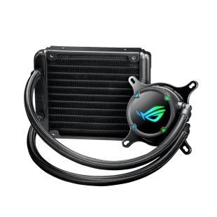 Asus ROG STRIX LC120 120mm Liquid CPU Cooler, 1 x 12cm PWM Fan, RGB
