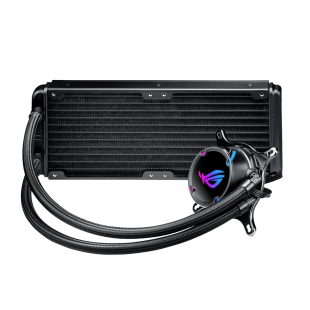 Asus ROG STRIX LC240 240mm Liquid CPU Cooler, 2 x 12cm PWM Fans, RGB