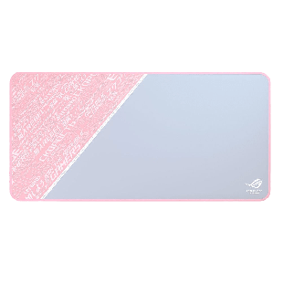 Asus ROG SHEATH PNK LTD Mouse Pad, Smooth Surface, Non-Slip ROG Rubber Base, Anti-Fray, 900 x 440 x 3 mm, Pink
