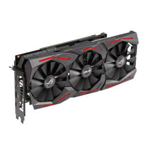 Asus ROG STRIX RTX2060 SUPER OC, 8GB DDR6, 2 HDMI, 2 DP, USB-C, 1860MHz Clock, 0dB Tech, RGB Lighting