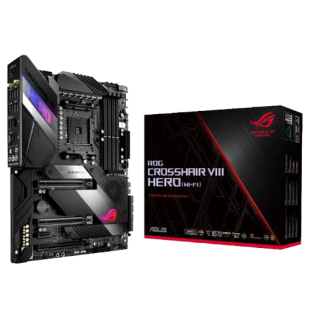 Asus ROG CROSSHAIR VIII HERO, AMD X570, AM4, ATX, 4 DDR4, SLI/XFire, 2.5GB LAN, PCIe4, RGB Lighting