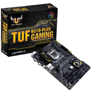 Asus TUF H310M-PLUS GAMING, Intel H310, 1151, Micro ATX, DDR4, DVI, HDMI, M.2, RGB Lighting