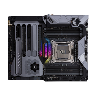 Asus TUF X299 MARK 1, Intel X299, 2066, ATX, 8 DDR4, SLI/XFire, M.2 Heatsink, Dual LAN, RGB Lighting