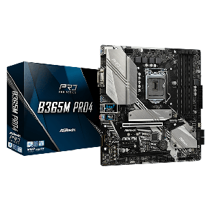 Asrock B365M PRO4, Intel B365, 1151, Micro ATX, 4 DDR4, CrossFire, VGA, DVI, HDMI