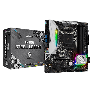 Asrock B450M STEEL LEGEND, AMD B450, AM4, Micro ATX, 4 DDR4, HDMI, DP, XFire, Rock-Solid Durability