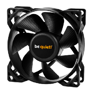 Be Quiet! BL037 Pure Wings 2 PWM 8cm Case Fan, Rifle Bearing - Black
