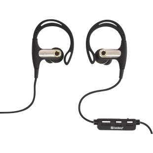 Sandberg Wireless Sports Earphones, Bluetooth, Inline Volume & Mic, 10mm Driver.