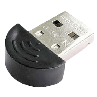 Dynamode USB Micro Bluetooth 2.0 Adapter, 100M Range, Ultra Compact, Round Edge