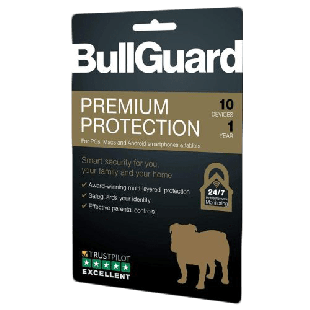 Bullguard Premium Protection 2019, 10 User - Single, Retail, PC, Mac & Android, 1 Year