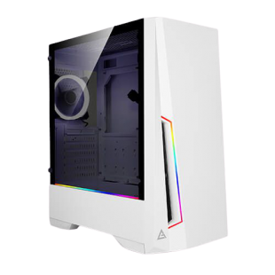 Antec DP501 White Dark Phantom Gaming Case with Window, ATX, No PSU, Tempered Glass, ARGB Strips & Built-in Controller