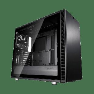 Fractal Design Define S2 (Blackout) Gaming Case w/ Light Tint Glass Window, E-ATX, Sound Dampening, PSU Shroud, Optional Top Filter, 3 Fans, USB-C