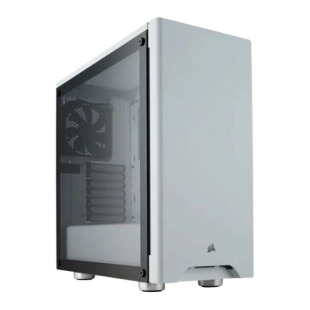 Corsair Carbide Series 275R Gaming Case with Tempered Glass Window, ATX, 2 x 12cm Fans, White