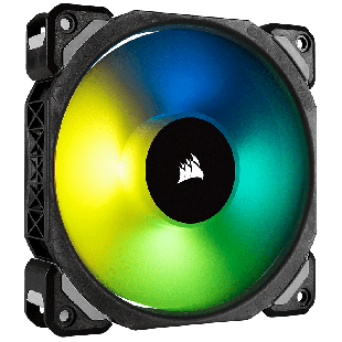 Corsair ML140 Pro 14CM, Magnetic Levitation Bearing PWM RGB Case Fan - Black with RGB LEDs