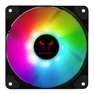 Riotoro Quiet Storm 12CM, PWM Case Fan,10 Addressable RGB LEDs, Hydraulic Bearing