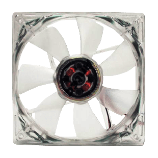 Antec Pro 8CM Case Fan, 2600RPM, 3-Pin with 4-Pin Adapter - Clear
