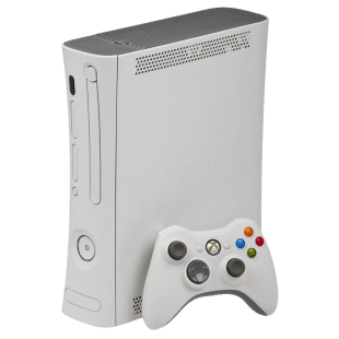 Refurbished Xbox 360 Console (No HDMI) W/ Wired Pad, White, B