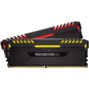 Corsair Vengeance RGB 32GB Kit (2 x 16GB), DDR4, 3000MHz (PC4-24000), CL16, XMP 2.0, DIMM Memory