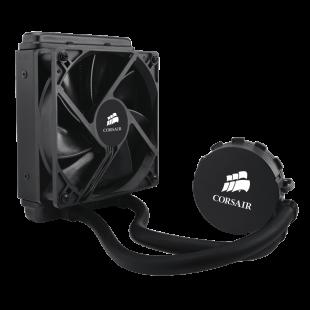 Corsair Hydro H60 120mm Liquid CPU Cooler, 1 x 12cm PWM Fan, LED Pump Head