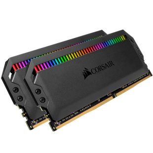 Corsair Dominator Platinum RGB 16GB Kit (2 x 8GB), DDR4, 3200MHz (PC4-25600), CL16, XMP 2.0, DIMM Memory