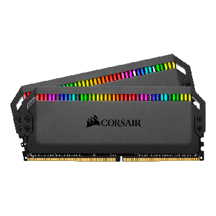 Corsair Dominator Platinum RGB 32GB Kit (2 x 16GB), DDR4, 3200MHz (PC4-25600), CL16, XMP 2.0, DIMM Memory