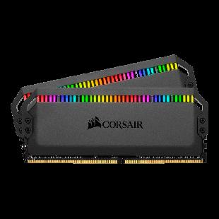 Corsair Dominator Platinum RGB 16GB Kit (2 x 8GB), DDR4, 3200MHz (PC4-25600), CL16, XMP 2.0, DIMM Memory