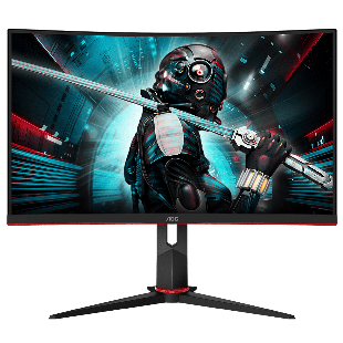 Brand New AOC C27G2U/BK 27-inch Widescreen VA LED Multimedia Curved Monitor-Black/Red (1920x1080/1ms/VGA/1xDP/2xHDMI)
