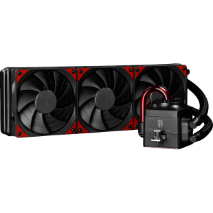 Deepcool GamerStorm Captain 360EX Liquid CPU Cooler, 120mm Radiator, 3 x 12cm Fans, Bionic Red LED