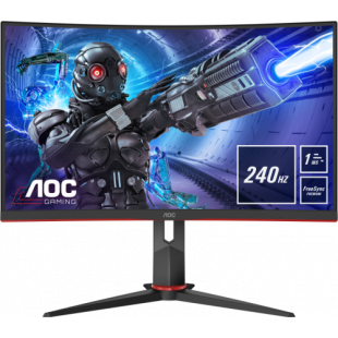 Brand New AOC C32G2ZE/BK 31.5-inch Widescreen VA LED Curved Monitor-Black/Red (1920x1080/1ms/1xDP/2xHDMI)