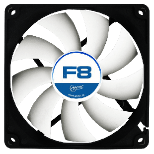 Arctic F8 8CM Case Fan, 9 Blades, Fluid Dynamic - Black & White