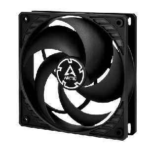 Arctic P12 12CM Pressure Optimised PWM PST Case Fan, Fluid Dynamic - Black
