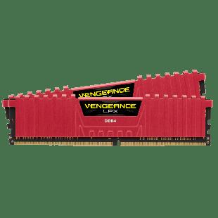 Corsair Vengeance LPX 8GB DDR4 2400MHz (PC4-19200)  CL16  Memory - Red