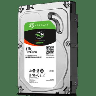 "Seagate 3.5"", 2TB, SATA3, FireCuda SSHD Hybrid Desktop Hard Drive, 7200RPM, 64MB Cache"