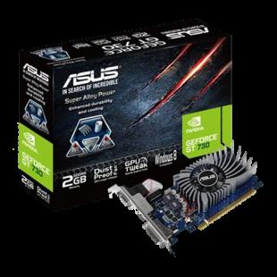 Asus GT730, 2GB DDR5, PCIe2, VGA, DVI, HDMI, Dust-proof Fan, Low Profile (Bracket Included)